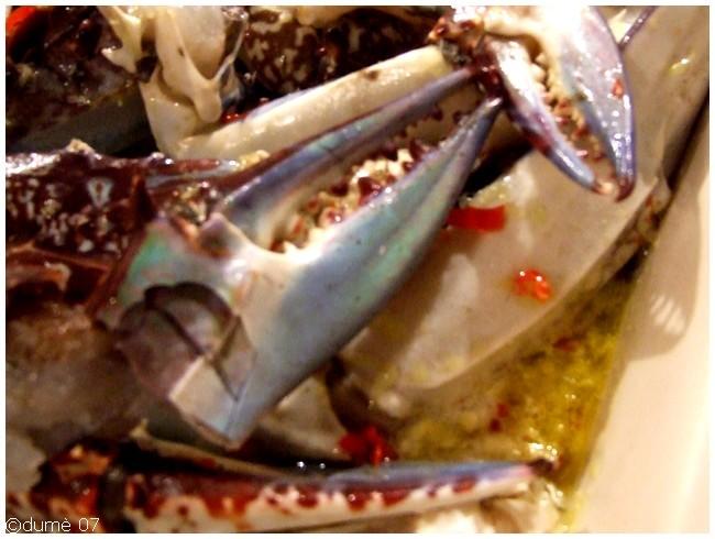 recette de pinces de crabes