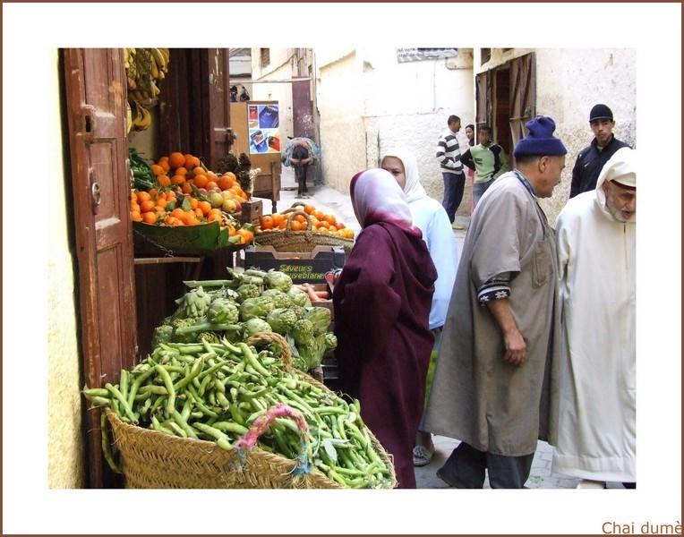 étals de légumes au Maroc