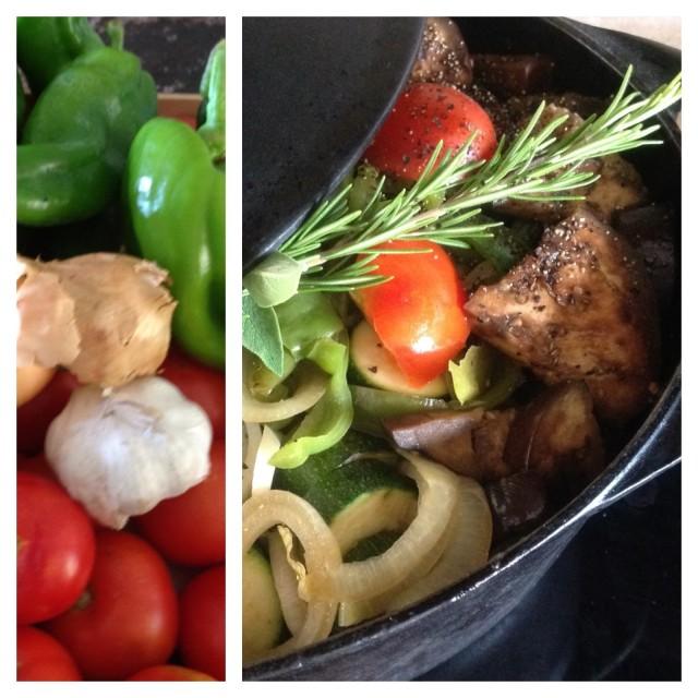 les legumes de la ratatouille
