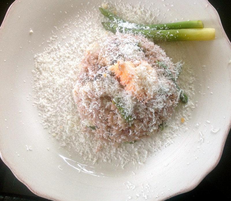 risotto à la langouste et aux asperges
