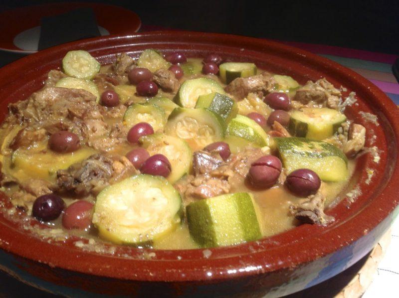 recette tajine aux olives cassées et courgettes