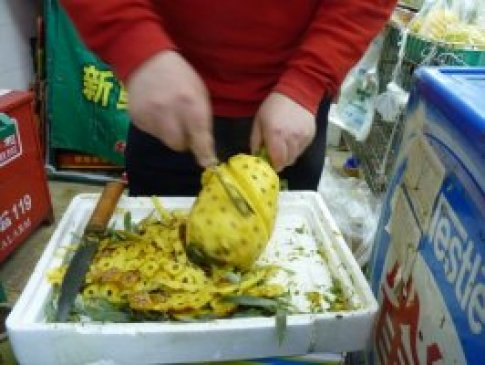 découpe de l'ananas
