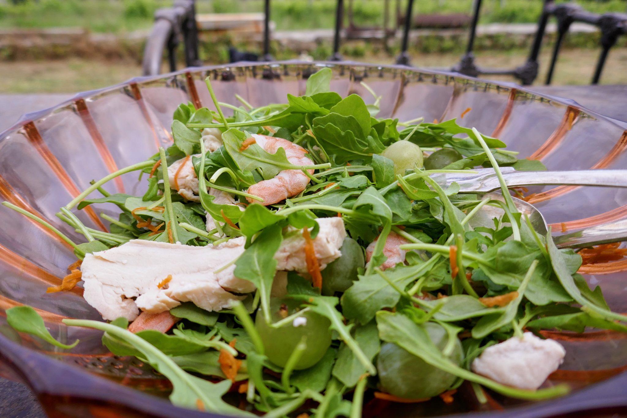 Salade fraîche poulet & crevettes, asian style
