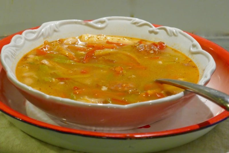soupe haricots & chorizo