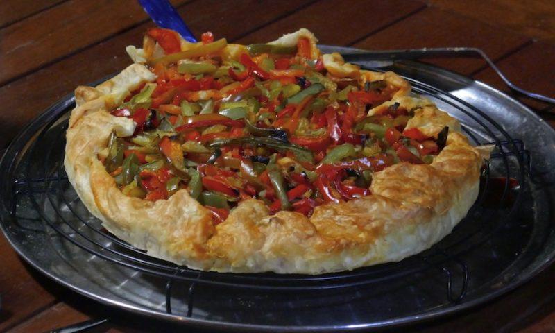 Tarte au poivron et au chorizo