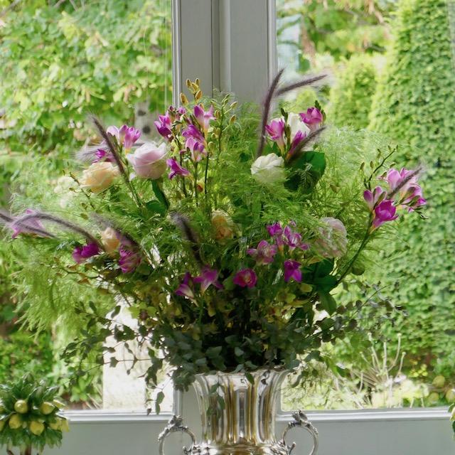 des fleurs au château Fourcas-Hosten