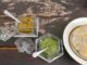 Pesto à la coriandre et pesto aux tomates confites